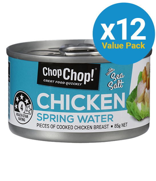 Chop Chop: Chicken Chunks - Springwater & Sea Salt 85g (12 Pack) image