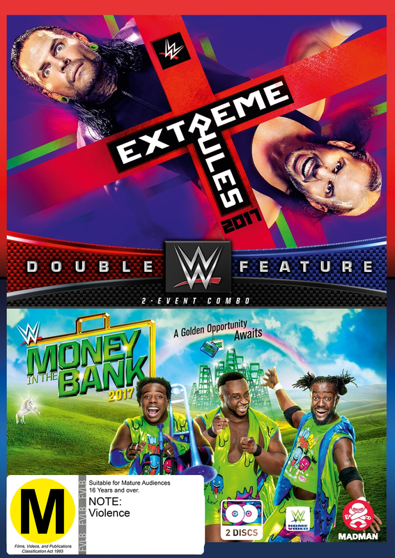 WWE: Extreme Rules/Money In The Bank 2017 on DVD