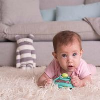 Mombella: Snail Teether Rattle - Blue image