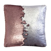 Bambury Shimmer Cushion Cover (Rose / Silver)
