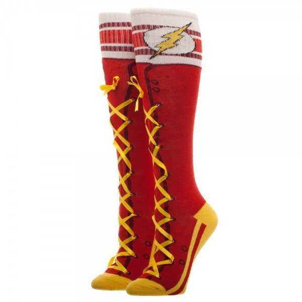 b1a279f0f4f DC Comics  Flash Laceup - Knee High Socks