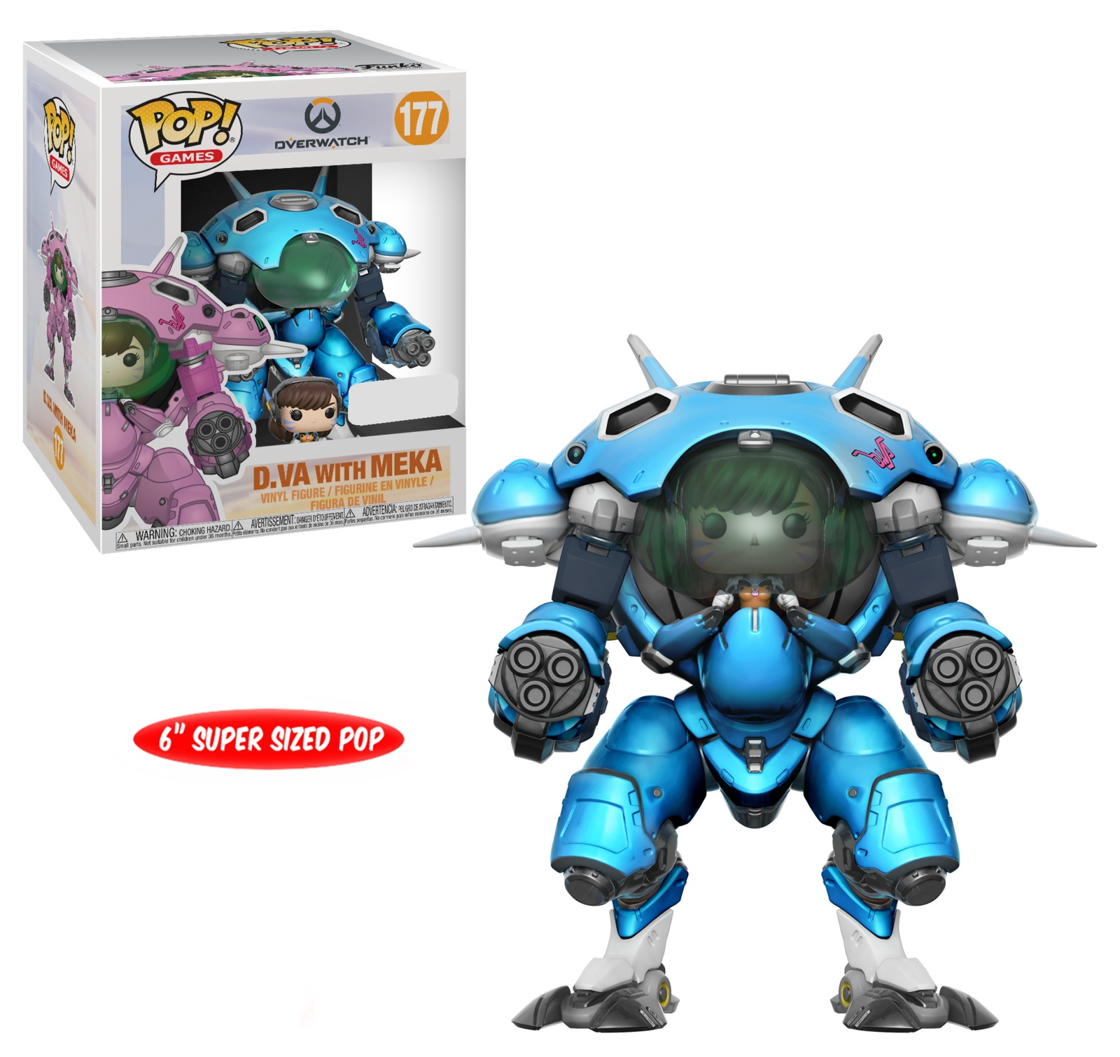 "Overwatch – D.VA & Meka (Blueberry) 6"" Pop! Vinyl Figure image"