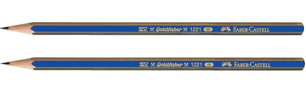 Faber-Castell: Goldfaber Graphite Pencil 4B - 2 Pack