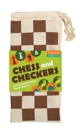 Mudpuppy: Mighty Dinosaurs Chess & Checkers