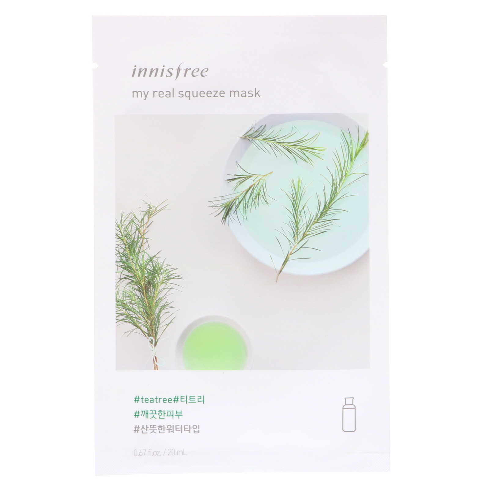 Innisfree - My Real Squeeze Sheet Mask - Tea Tree (20ml) image