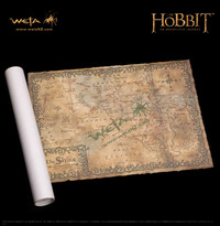 """The Hobbit 29"""" Art Print: Map of the Shire - by Weta"""