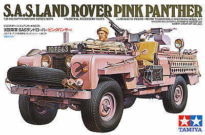 """Tamiya British SAS Land Rover """"Pink Panther"""" 1:35 Model Kit"""