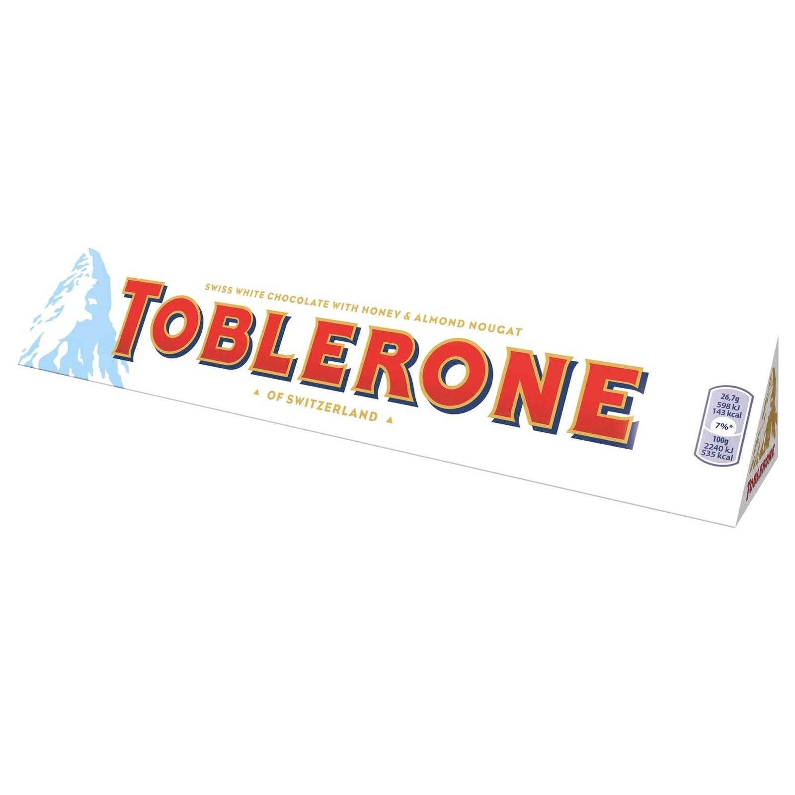 Toblerone White Chocolate Bar (360g) image