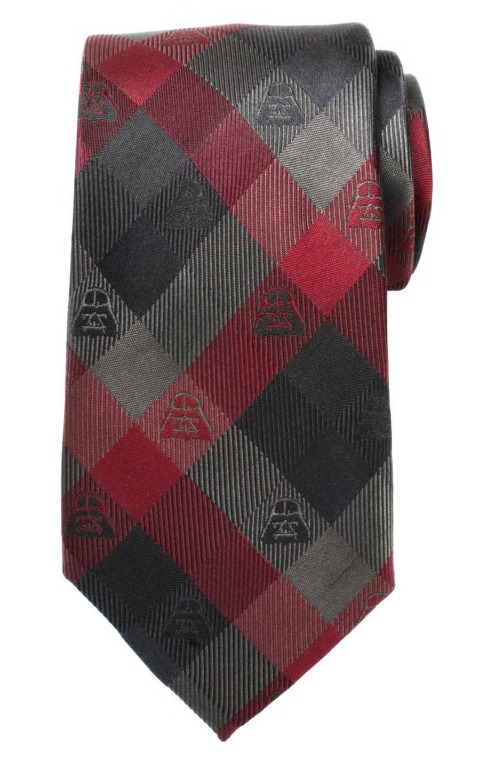 Darth Vader (Red) - Modern Plaid Tie image