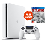 PS4 Slim 500GB Console - White for PS4