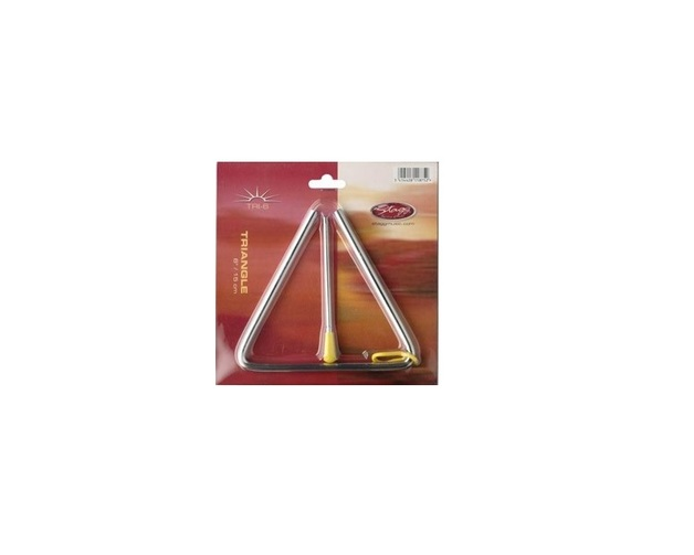 """Stagg 1.2mm 6"""" Triangle With Beater"""