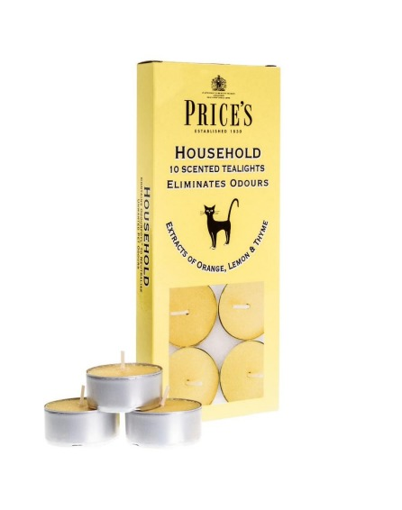 Price's Odour Eliminator Tealight Candles - Household image