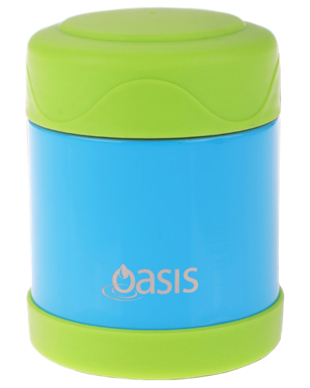 Oasis: Kid's Stainless Steel Insulated Food Flask - Blue/Green (300ml)