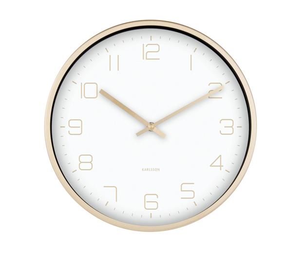 Karlsson Gold Elegance Wall Clock - White