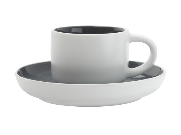 Maxwell & Williams - Tint Demi Cup & Saucer Charcoal