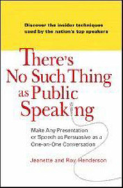 There's No Such Thing as Public Speaking by Jeanette Henderson image