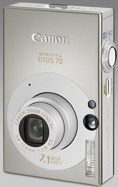 CANON IXUS 70 DIGITAL CAMERA 7.1MP