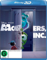 Monsters, Inc on Blu-ray, 3D Blu-ray