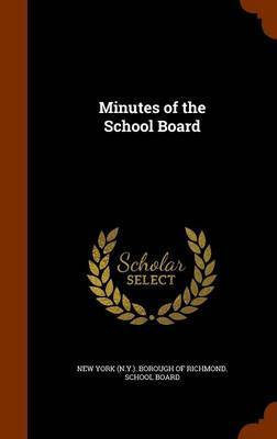 Minutes of the School Board image