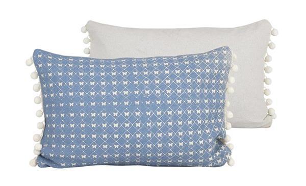 Raine & Humble Cushion Butterfly Lace - Powder Blue (30X60cm)