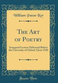 The Art of Poetry by William Paton Ker image