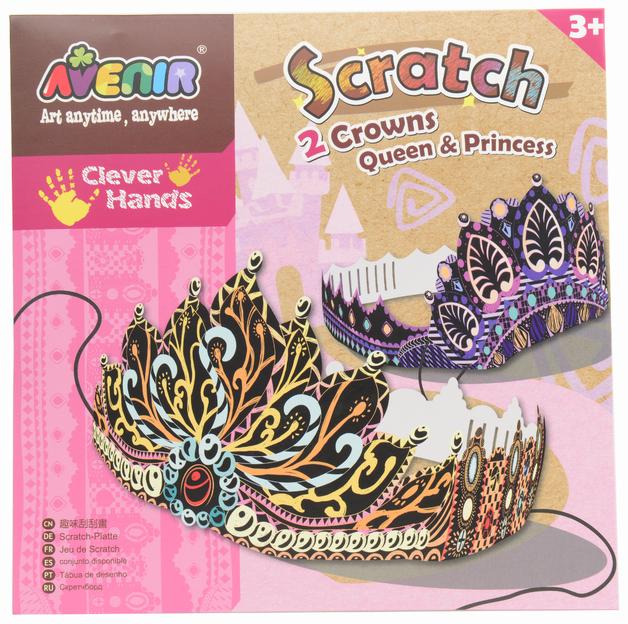 Avenir Scratch Art Kit - Princess Crowns