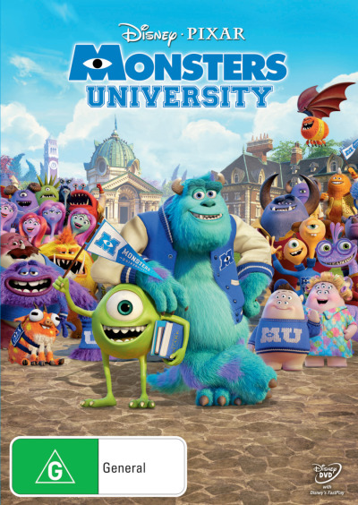 Monsters University on DVD