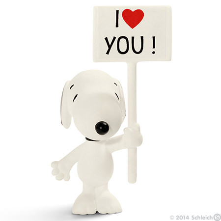 Schleich - Snoopy I Love You