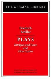 Plays by Friedrich Schiller