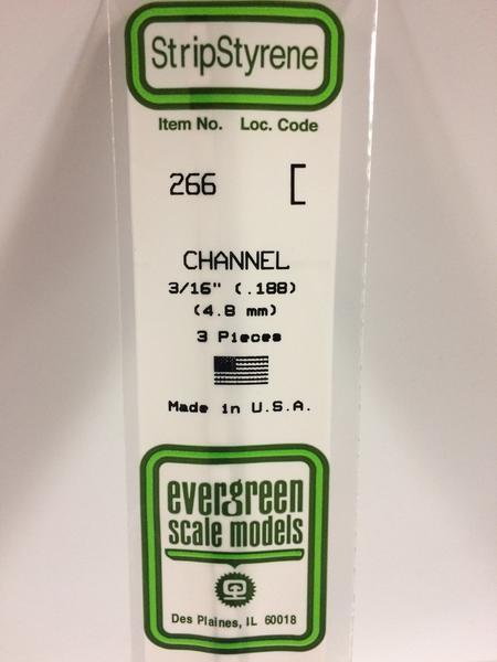 Evergreen Styrene Channel 35cm Long X 4.8 mm (3)