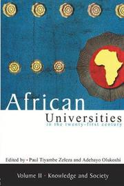 African universities in the twenty-first Century: Volume 2 by Paul Tyambe Zeleza