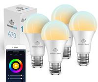 Smart Ape: 10W Colour & Warm/Cool White Smart Bulb (E27) - 4 Pack