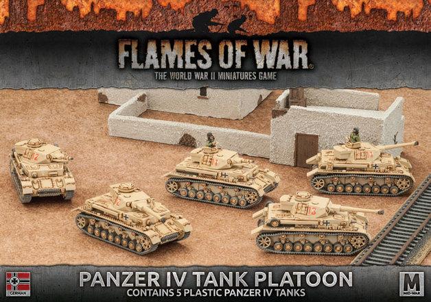 Flames of War: Afrika Korps - Panzer IV Tank Platoon