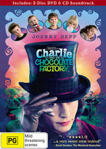 Charlie And The Chocolate Factory - Deluxe Edition (2 DVD And CD Soundtrack) on DVD