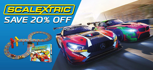 Save 20% off Scalextric Slot Cars this November!