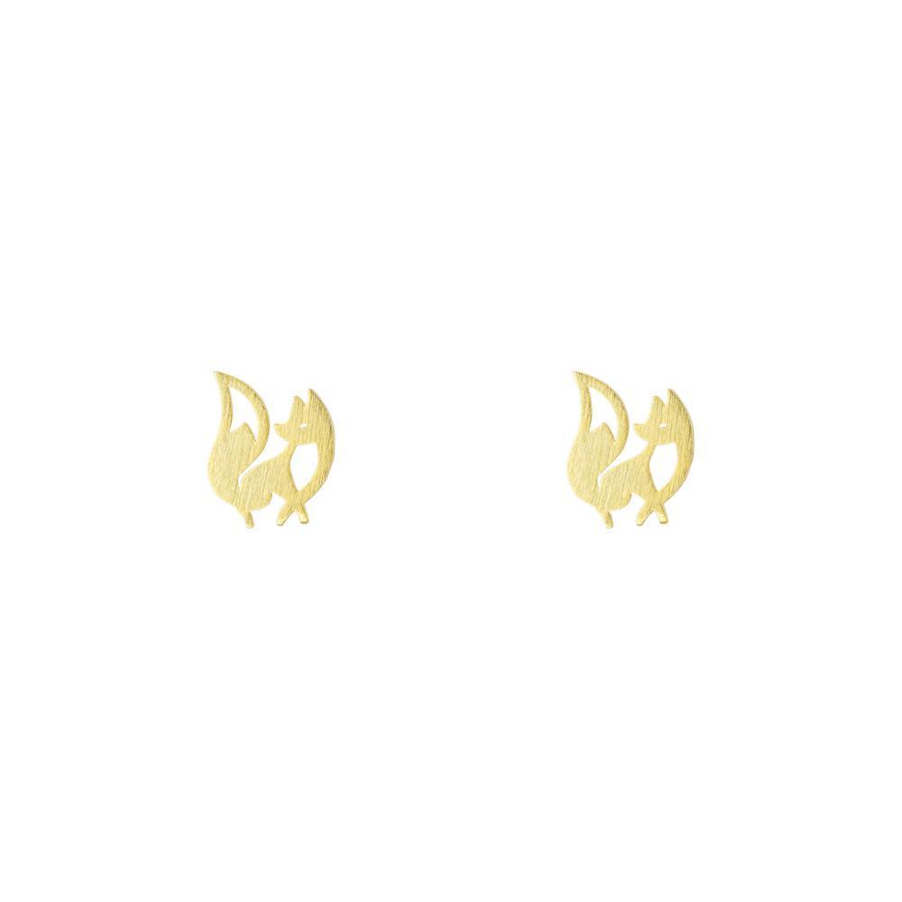 Short Story: Charming Fox Earring - Gold image
