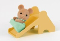 Sylvanian Families: Mouse Baby with a Slide