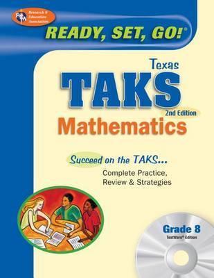 TX Taks Math Grade 8 W/CD (Rea) by Penny Luczak, M.A.
