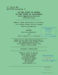 Sloan vs. Ware and Bank of America Appellant's Opening Brief by Sam Sloan