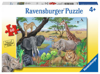 Ravensburger : Safari Animals Puzzle 60pc