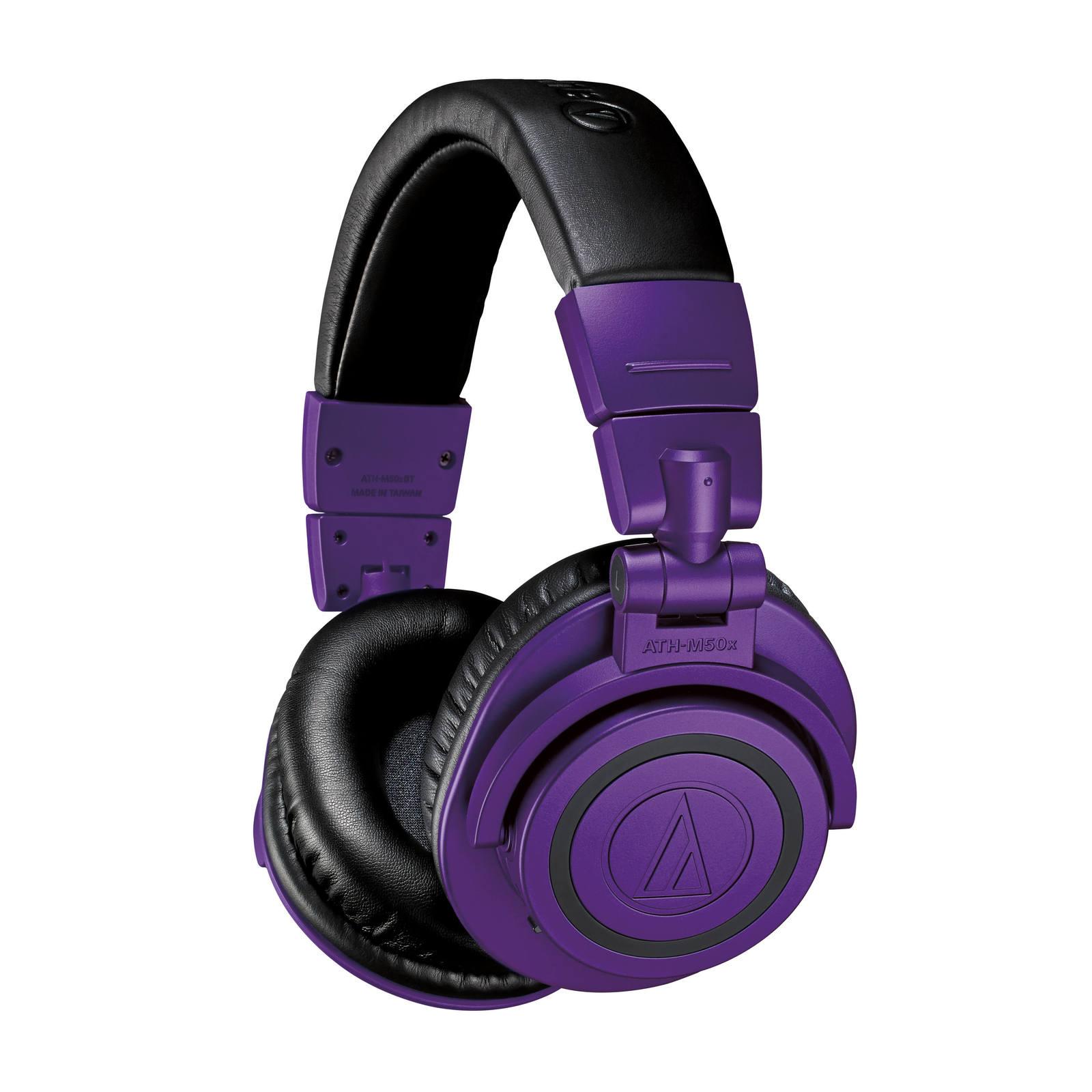 Audio Technica M50X Bluetooth Studio Headphones Limited Edition Purple image