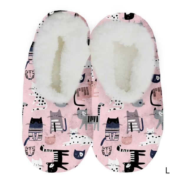 Sploshies: Women's Velvet Slippers - Kitty (Large)