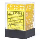 Chessex Signature 12mm D6 Dice Block: Yellow & White Translucent