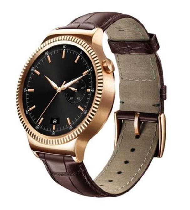 Huawei: Watch Elite Gold - Stainless Steel with Brown Leather StraP