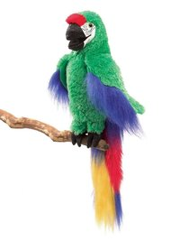 Folkmanis Hand Puppet - Green Macaw