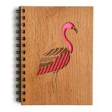 Cardtorial Wooden Journal - Flamingo