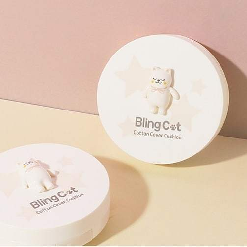 Tony Moly: Bling Cat Cotton Cover Cushion - 02 Skin Beige (15g)