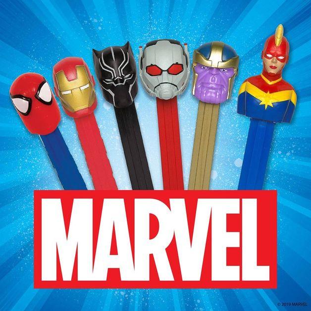 Pez Marvel Candy Dispenser 25g