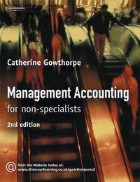 Management Accounting: For Non Specialists by Catherine Gowthorpe image