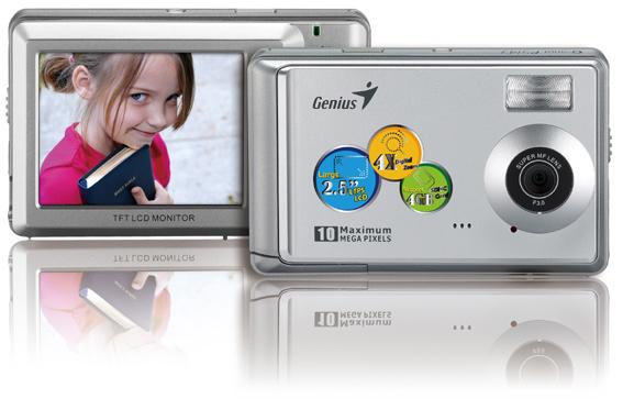 Genius G-Shot P5143 5MP Digital Camera Silver image